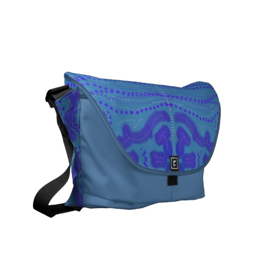 Blue convergence commuter bag