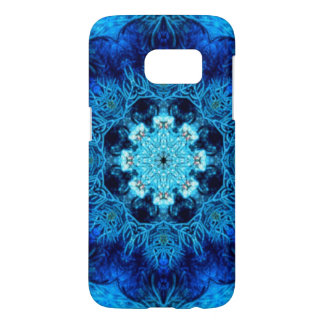 Blue Coral Abstract Samsung Galaxy S7 Case