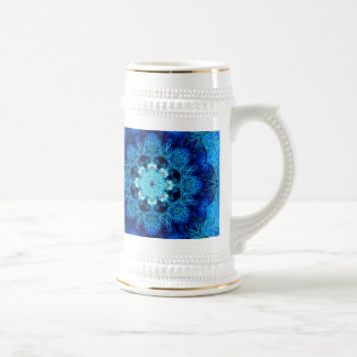 Blue Coral Abstract Stein 18 Oz Beer Stein