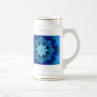 Blue Coral Abstract Stein 18 Oz Beer Stein