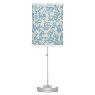 Blue Coral Pattern Table Lamp