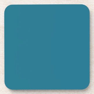 Blue Coral Steel Muted Teal 2015 Color Trend Coaster