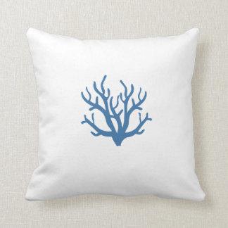 Blue Coral Toss Pillow