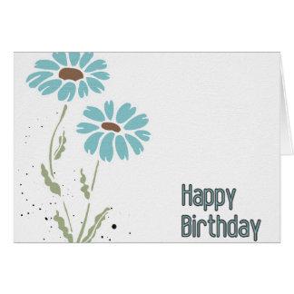 Blue Corn Flowers Happy Birthday card