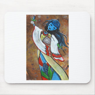 Blue Corn Maiden Mouse Pad