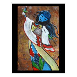 blue corn maiden postcard