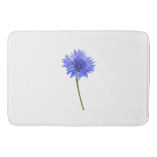 blue cornflower bath mat