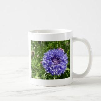 Blue cornflower coffee mug