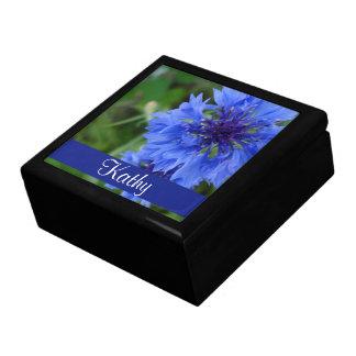 Blue Cornflower Flower Gift Box