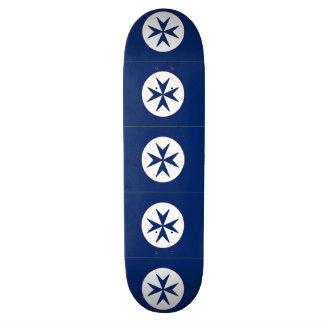 BLUE CORSAIR octagon cross Skate Deck