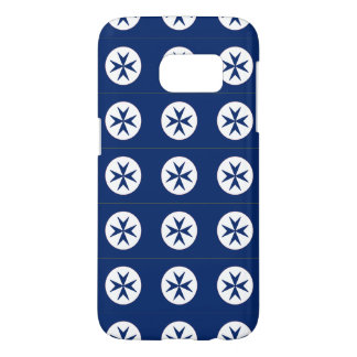 BLUE CORSAIR STYLE octagon cross Samsung Galaxy S7 Case