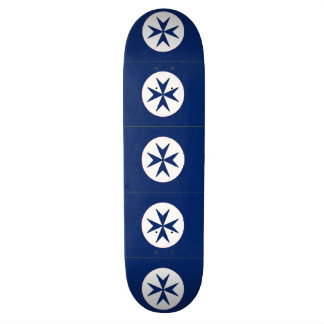 BLUE CORSAIR STYLE octagon cross Skate Decks