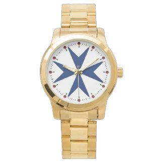 BLUE CORSAIR STYLE Octagon Cross Watches