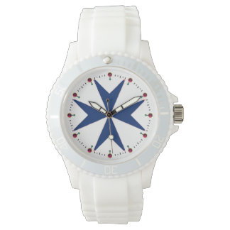 BLUE CORSAIR STYLE Octagon Cross Wristwatches