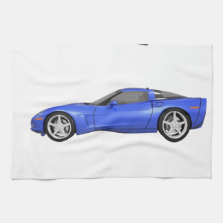 Blue Corvette: Kitchen Towel