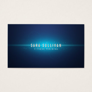 Blue Cosmic Glow Fitness Trainer Business Card