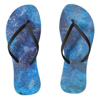 Blue Cosmos #1 Flip Flops