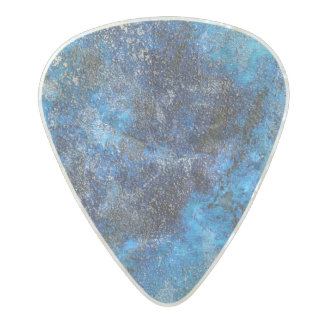 Blue Cosmos #1 Pearl Celluloid Guitar Pick