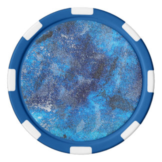 Blue Cosmos #1 Poker Chip Set