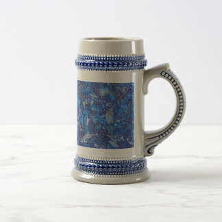 Blue Cosmos #2 Beer Stein