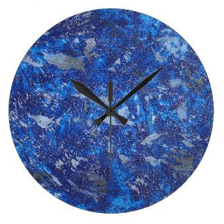 Blue Cosmos #2 Large Clock