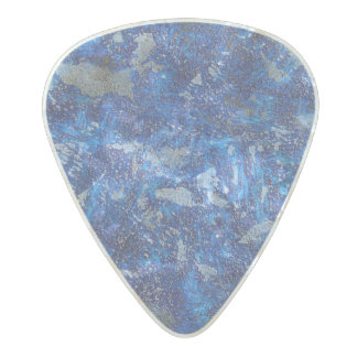 Blue Cosmos #2 Pearl Celluloid Guitar Pick