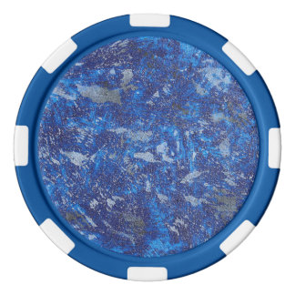 Blue Cosmos #2 Poker Chips Set