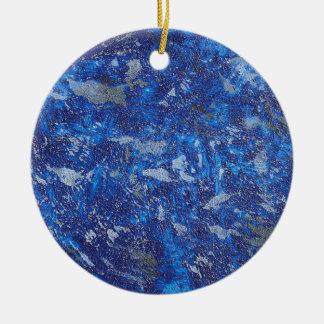 Blue Cosmos #2 Round Ceramic Ornament