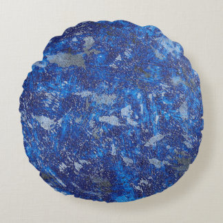 Blue Cosmos #2 Round Pillow