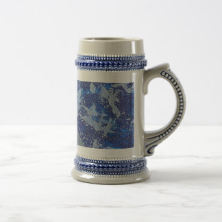 Blue Cosmos #3 Beer Stein