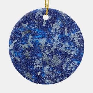 Blue Cosmos #3 Ceramic Ornament