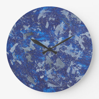 Blue Cosmos #3 Large Clock