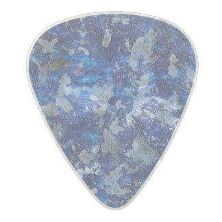 Blue Cosmos #3 Pearl Celluloid Guitar Pick