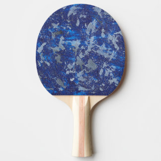 Blue Cosmos #3 Ping Pong Paddle