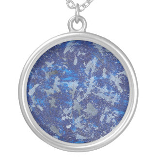 Blue Cosmos #3 Silver Plated Necklace