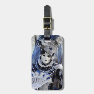 Blue Costume Luggage Tag