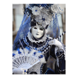 Blue Costume Photographic Print