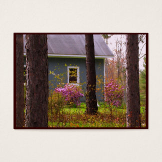 Blue Cottage in Spring Colors ATC Business Card