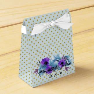 Blue Cottage Roses Wedding Suite Favor Boxes