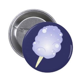 Blue Cotton Candy 2 Inch Round Button