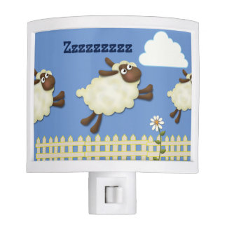"Blue ""Counting Sheep"" Night Light"