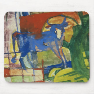 Blue Cow, 1914 (tempera on paper) Mouse Pad
