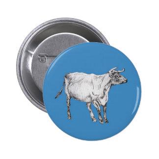 blue cow 2 inch round button