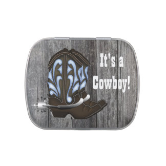 Blue Cowboy Boots Baby Shower Candy