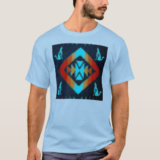 Blue Coyote Blanket T-Shirt