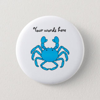 Blue crab 2 inch round button