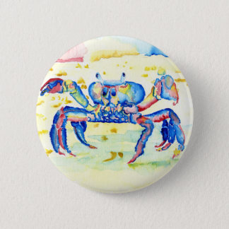 Blue Crab 2 Inch Round Button