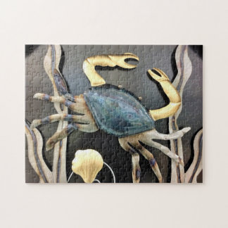 Blue Crab Abstract Jigsaw Puzzle