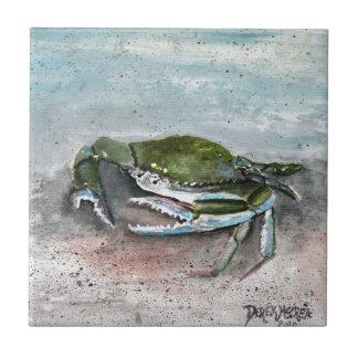 Blue crab beach crabs art gifts tile