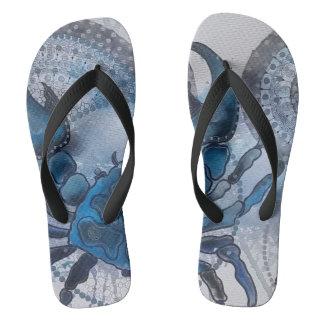 Blue crab flip flops